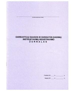 Darbuotojų saugos ir sveikatos įvadinių instruktavimų registracijos žurnalas A4 24 l.