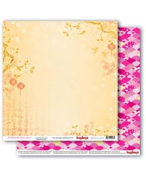 Skrebinimo popierius Japanese Dreams - Latern Festival, 30.5x30.5cm, 190g/m2, 1vnt.
