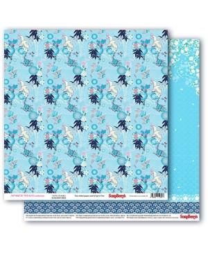 Skrebinimo popierius Japanese Dreams - Paper Cranes, 30.5x30.5cm, 190g/m2, 1vnt.