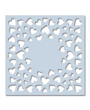 Trafaretas, plastikinis Confetti Hearts, Sweet Dixie, 15x15cm
