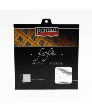 Folijos lapeliai 14x14cm, 5vnt. Silver