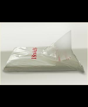 Skaidrūs HDPE maišeliai su kloste, 14x38 mm 1000 vnt.