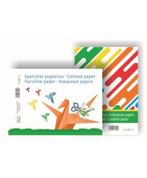 Spalvotas popierius A4, 8 lapai, 80 g/m²