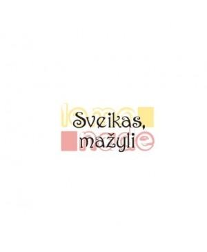 Silikono antspaudas Sveikas mažyli-1/44, 35x20mm
