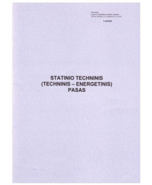 Statinio techninis (techninis energetinis) pasas, 8 l.