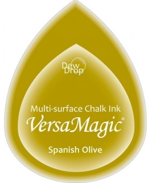 Rašalo pagalvėlė VersaMagic Dew Drop Spanish Olive žalia