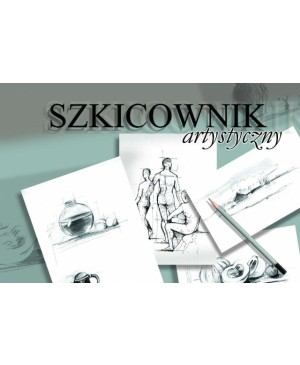 Albumas eskizams Kreska, A3, 120 g/m², 100 lapų, klijuotu šonu