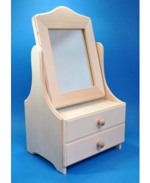 Komodėlė su veidrodžiu, 20.5x37.5x16.5cm