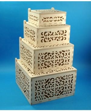 Dėžutė ažūrinė 18,5 x 18,5 x 11,5 cm