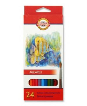 Akvareliniai pieštukai Koh-I-Noor 24 spalvų