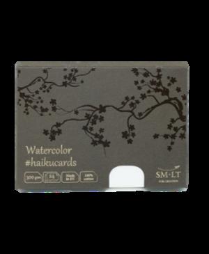 Piešimo kortelės Haikucards dėžutėje, 106.5x147mm, 300g/m², 24vnt.,100% medvilninio akvarelinio popieriaus
